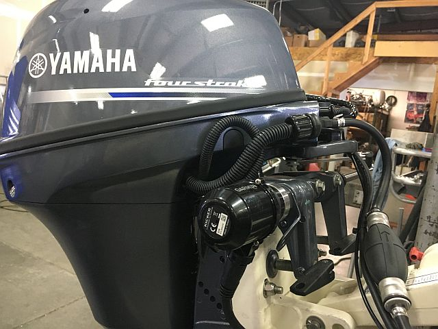 New Yamaha 9.9 with the new Garmin Reactor Kicker